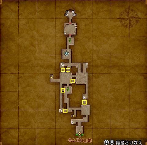 荒野の地下迷宮地下1階マップ