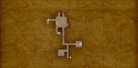 荒野の地下迷宮地下2階宝箱マップ