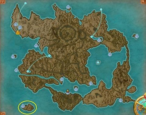 ドラクエ11S名もなき島場所